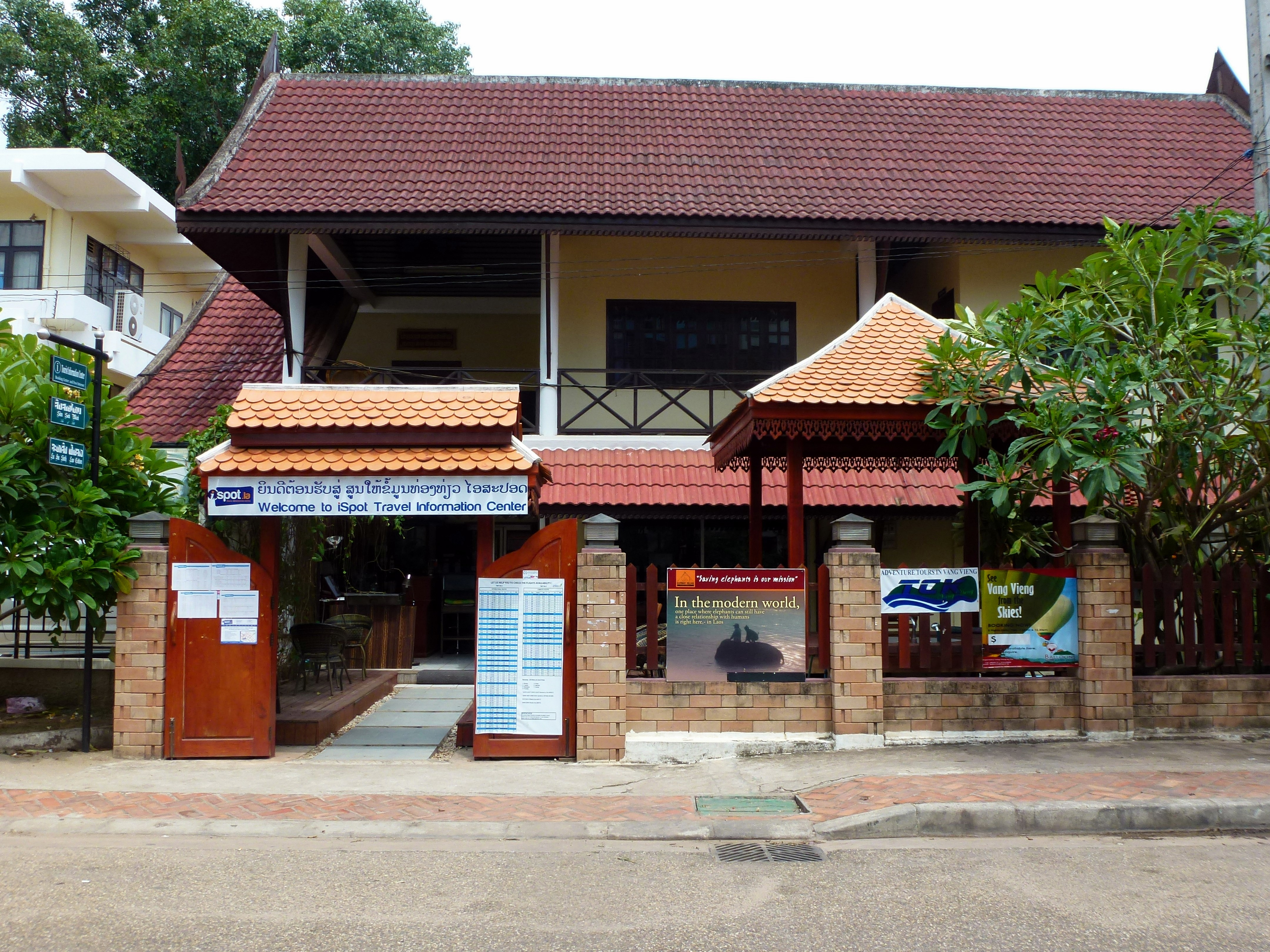 iSpot Travel Information Center in Laos